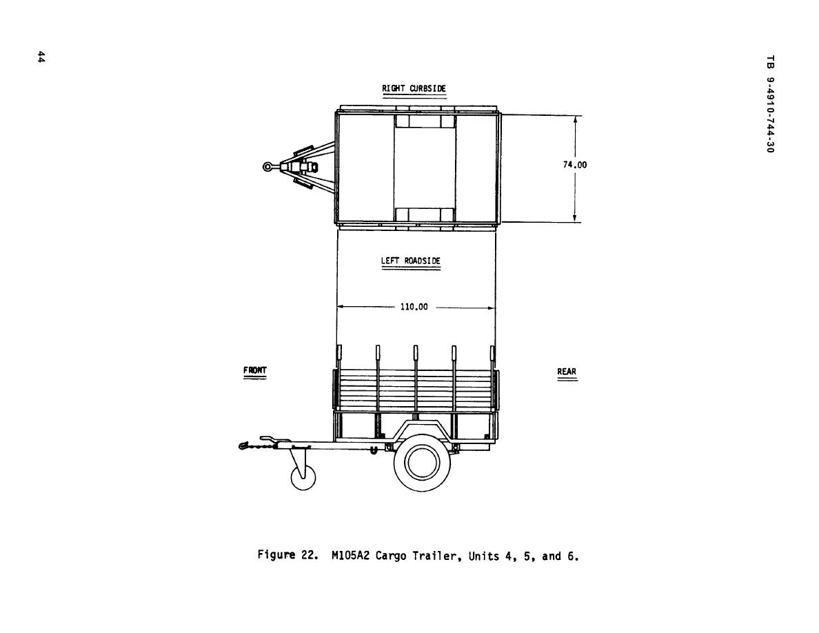 Figure 22 M105A2 Cargo Trailer Units 45 And 6