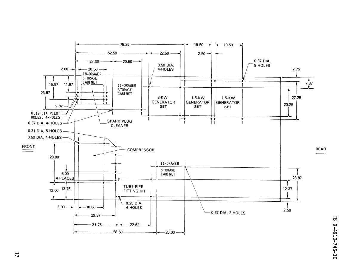 Figure 3 Hole Dimensions For Mounting Components Unit 1 M35a2