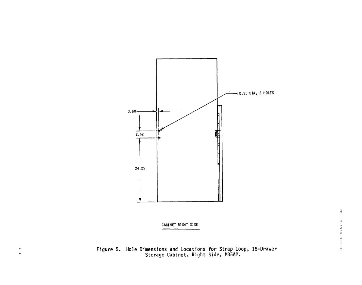 Figure 5 Hole Dimensions And Locations For Strap Loop 18 Drawer