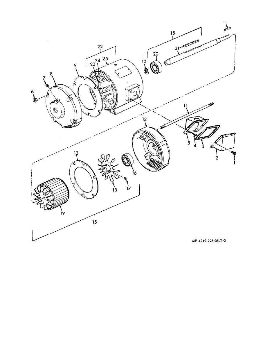 Figure 3 2 4ir compressor drive rnotor disassembly and for Motor winding cleaning solvent